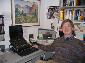 Jay Lipe in his home office